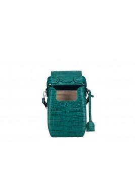 حقيبة ظهر خضراء جلد التمساح