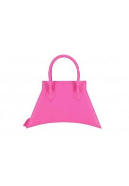 حقيبة وردية ميكرو جلد