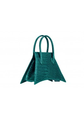 حقيبة خضراء ميكرو جلد