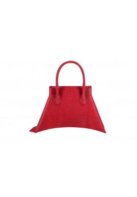 حقيبة حمراء ميكرو جلد