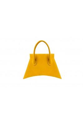 حقيبة صفراء ميكرو جلد