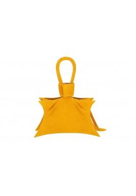 حقيبة سيدا الصفراء الجلد نمط نجمة