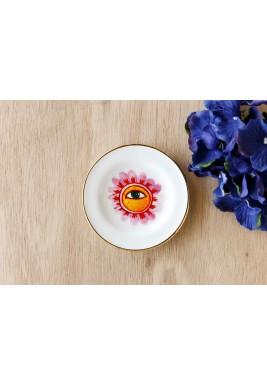 طقم صحن فنجان عين الوردة