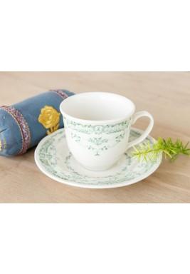 طقم سيج فنجان شاي مع صحن