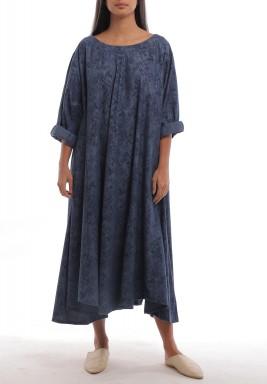 فستان ذا ايسنشل كحلي فضفاض بطبعات