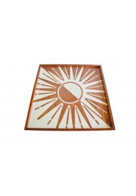 صينية أشعة الشمس الخشبية