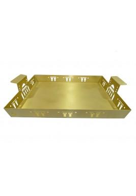 صينية ذهبية مربعة