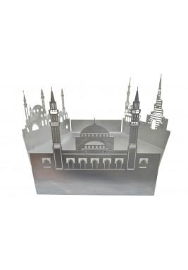 تحفة ديكور فضية نمط مسجد