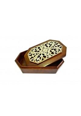 صندوق خزينة إيما الخشبي