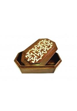 صندوق خزينة سالي الخشبي