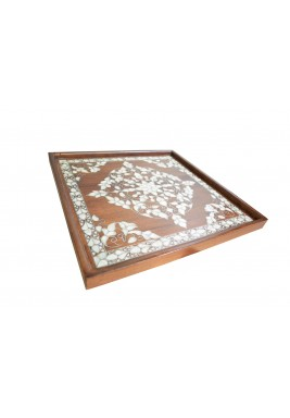 صينية إيسكوير الخشبية
