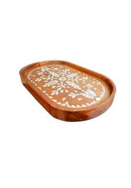 صينية فيولا الخشبية