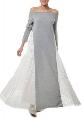 فستان أوف شولدر تصميم أكتاف مكشوفة