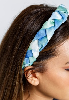 bule &green Headband