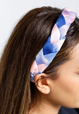 bule & Pink Headband