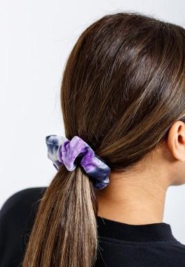 Rainbow Light purple Velvet Scrunchie