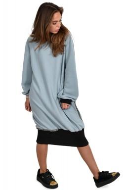 فستان طراز كنزة طويلة أزرق فاتح