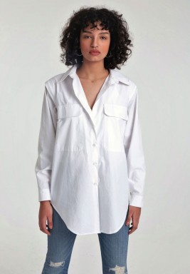 قميص متغير أبيض