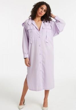 فستان قميص يوتيليتي أرجواني ملكي