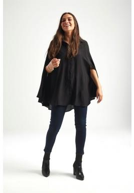 قميص أسود نمط رداء