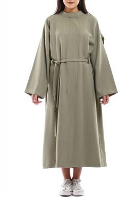 معطف ذي أذرز أخضر