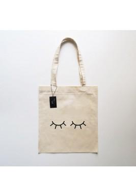 """حقيبة نمط كيس تسوق بطبعة """"العيون الناعسة"""""""