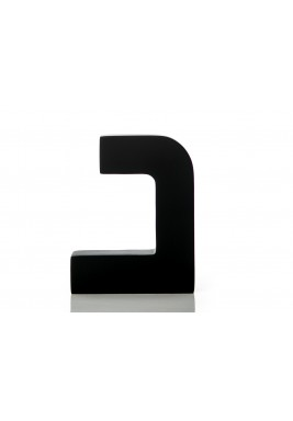 مجسم حرف دال أسود خشبي
