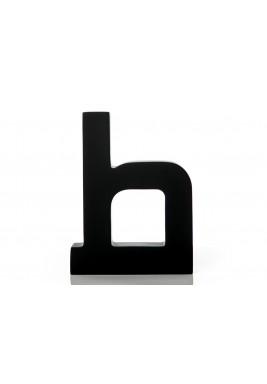 مجسم حرف الطاء أسود خشبي