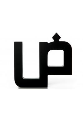 مجسم حرف ضاد أسود خشبي
