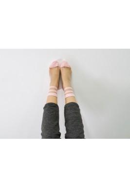 جوارب نينا الوردية المخططة