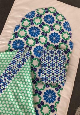 طقم صلاة إسلامي أزرق