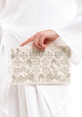 حقيبة يد سيرما رمضان الفضية