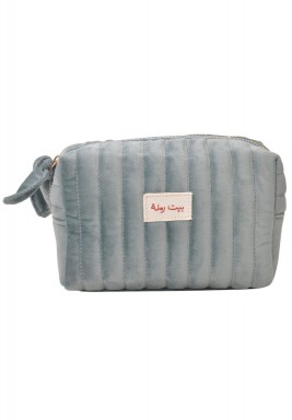 حقيبة مكياج بيت رملة أزرق سماوي