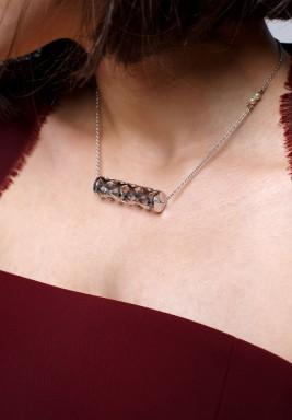 سلسلة بطراز الزخرفة العربي من الذهب الأبيض