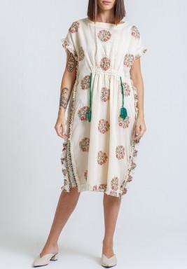 فستان امالفي أوف-وايت مورد برفرفات