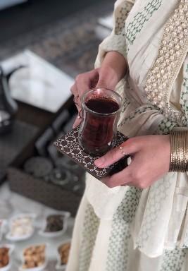 طقم شاي وقهوة - سداسي