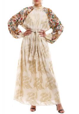 فستان مطبوع نقاشة النخيل