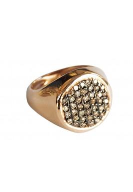 خاتم الفارس من الماس البني