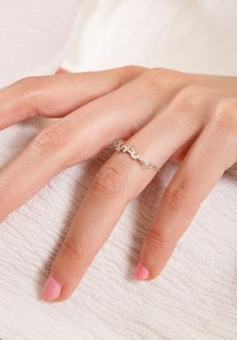"""خاتم """"سر حبي"""" من الذهب الأبيض"""