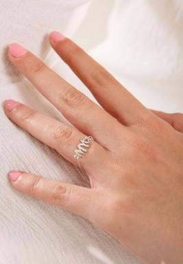 """خاتم من الذهب الأبيض بكتابة """" My"""