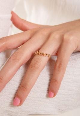 """خاتم من الذهب الزهري بكتابة """" person """""""