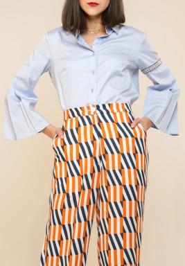 كانيكا جويال لابل - قميص بأكمام سادة