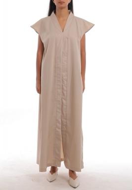 فستان بيج ماكسي بأكمام قصيرة
