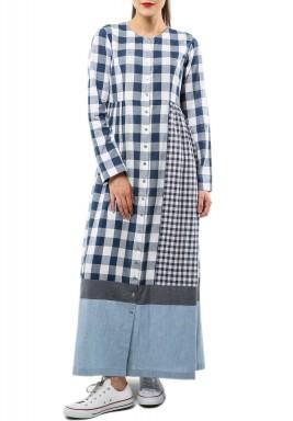 دودل إيج - فستان بتصميم مربعات