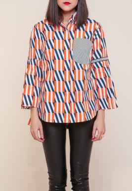 كانيكا جويال لابل - قميص شبكة المربعات