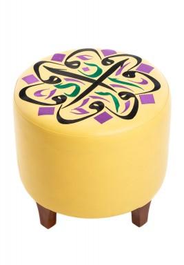كرسي دائري أصفر