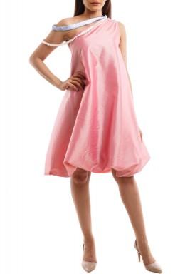فستان منفوش زهري