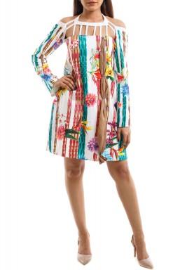 فستان بامبو قصير