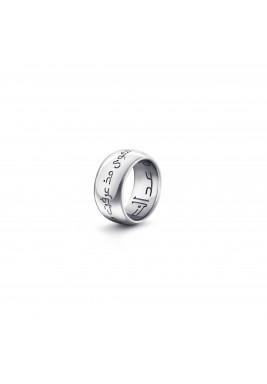 خاتم الروح فضة أبيض مع الماس