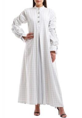 قفطان فستان المربعات